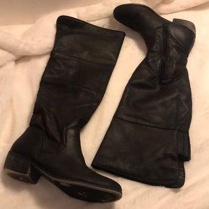 Rampage black flat boots size 8.5